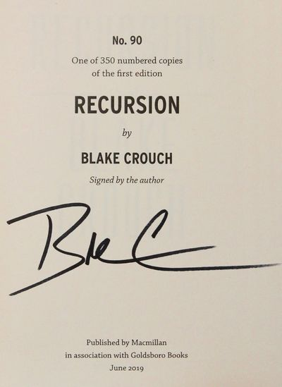Image for Recursion (Signed, Limited)